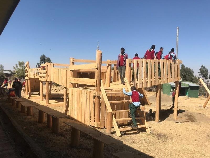 Teams build adventure playground